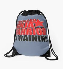 AMERICAN NINJA WARRIOR IN TRAINING Drawstring Bag
