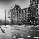 Amsterdam: Outside the Rijksmuseum at dawn (textless version) by metzalx