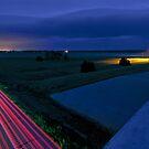 Night on a Nebraska Freeway Overpass by MattGranz