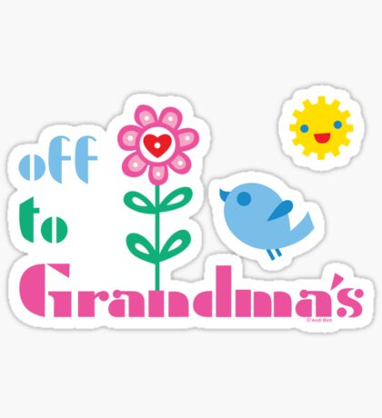 Off To Grandma's Sticker