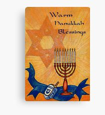 Warm Hanukkah Blessings Canvas Print