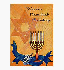 Warm Hanukkah Blessings Photographic Print