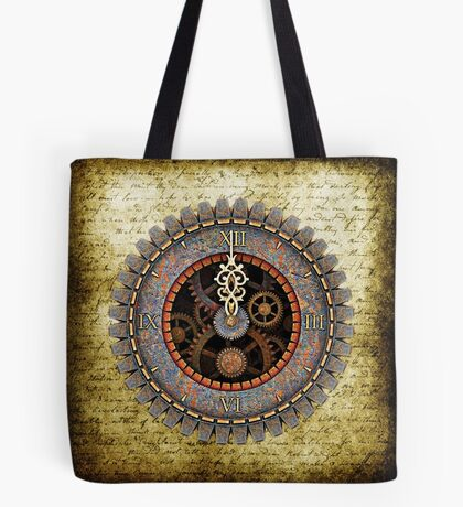 Infernal Steampunk Vintage Clock Face No.2 Tote Bag