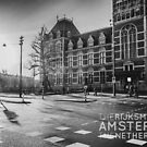 Amsterdam: Outside the Rijksmuseum at dawn (text version) by metzalx