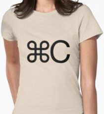 Copy apple c mac twin geek funny nerd Women's Fitted T-Shirt