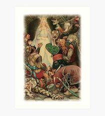 IT WAS CLEAR THAT HER FASCINATION STILL WORKED UPON THE HEARTS OF THE PRISONERS in the Russian Story Book Art Print