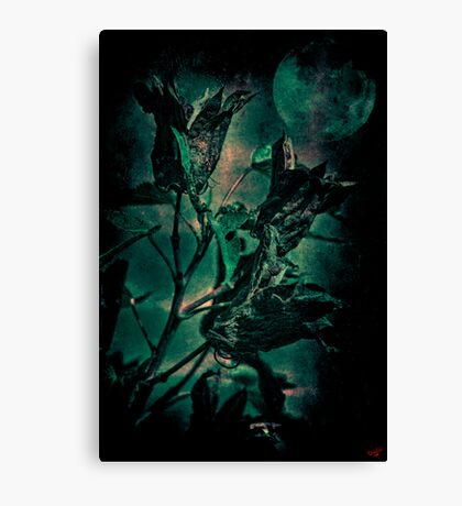 A Gothic Harvest Moon Canvas Print