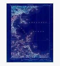 Massachusetts  USGS Historical Topo Map MA Boston Bay 352527 1903 62500 Inverted Photographic Print