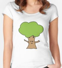 Cute tree geek funny nerd Women's Fitted Scoop T-Shirt