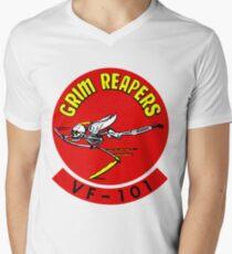 VF-101 Grim Reapers Logo Men's V-Neck T-Shirt