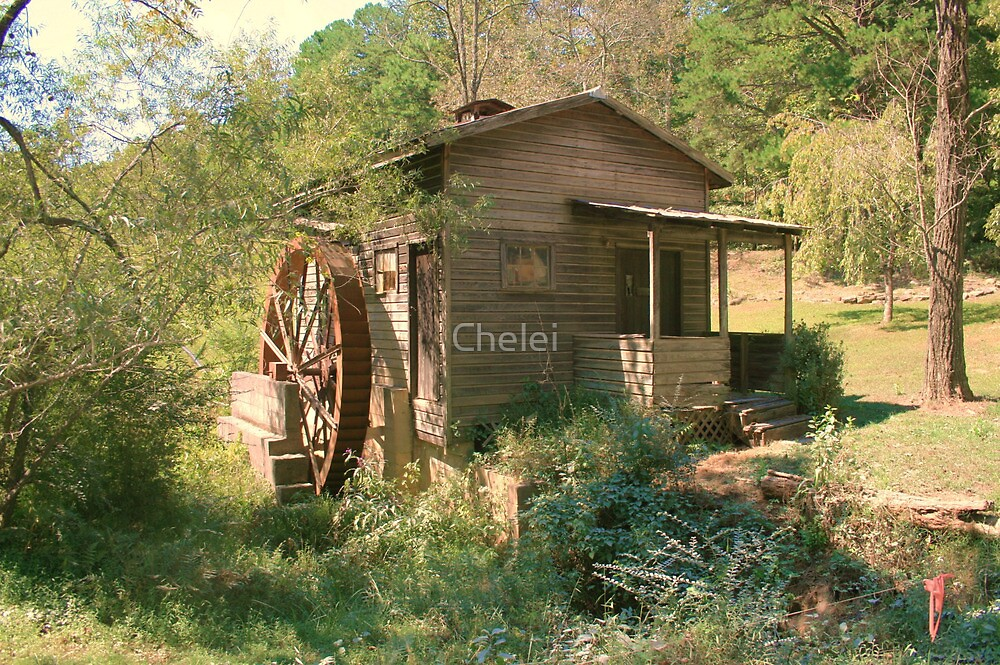 Old Waterwheel by Chelei