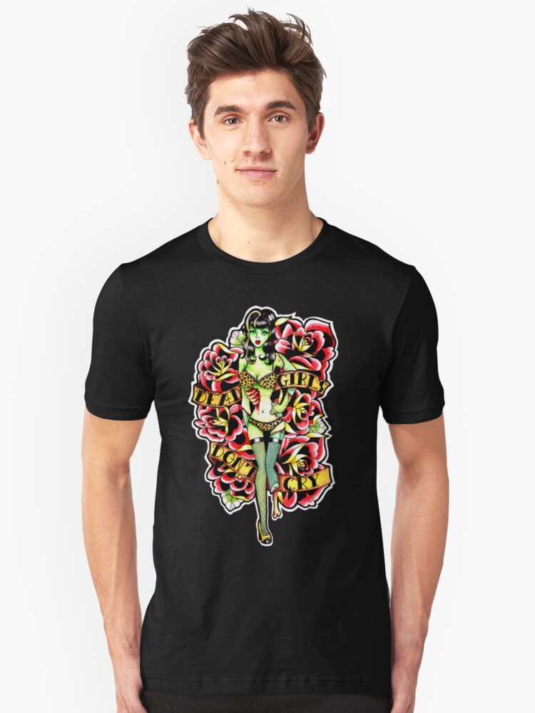 Dead Girls Don't Cry Zombie Pinup Tee by MissCarissaRose