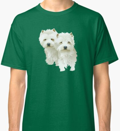 westies (mother and daughter) Classic T-Shirt