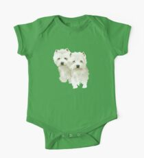 westies (mother and daughter) One Piece - Short Sleeve