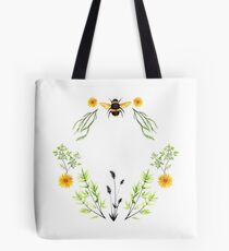 Bees in the Garden - Watercolor Graphic Tote Bag