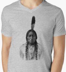 Sitting Bull Men's V-Neck T-Shirt