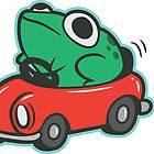 Frog In A Car by amandaflagg