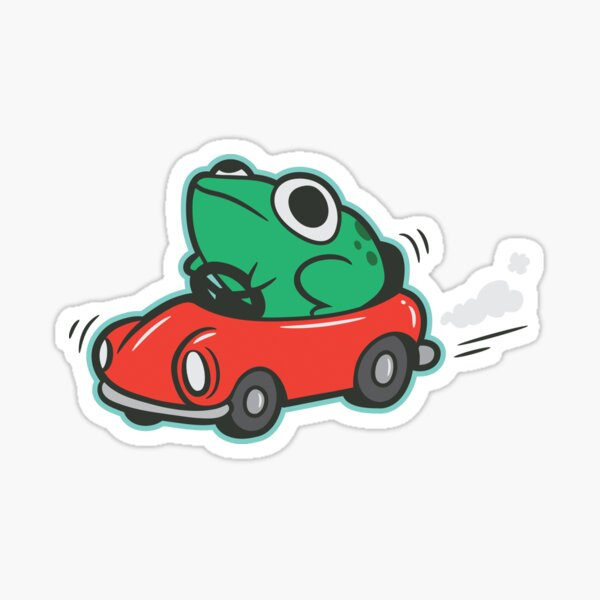 Frog In A Car Sticker