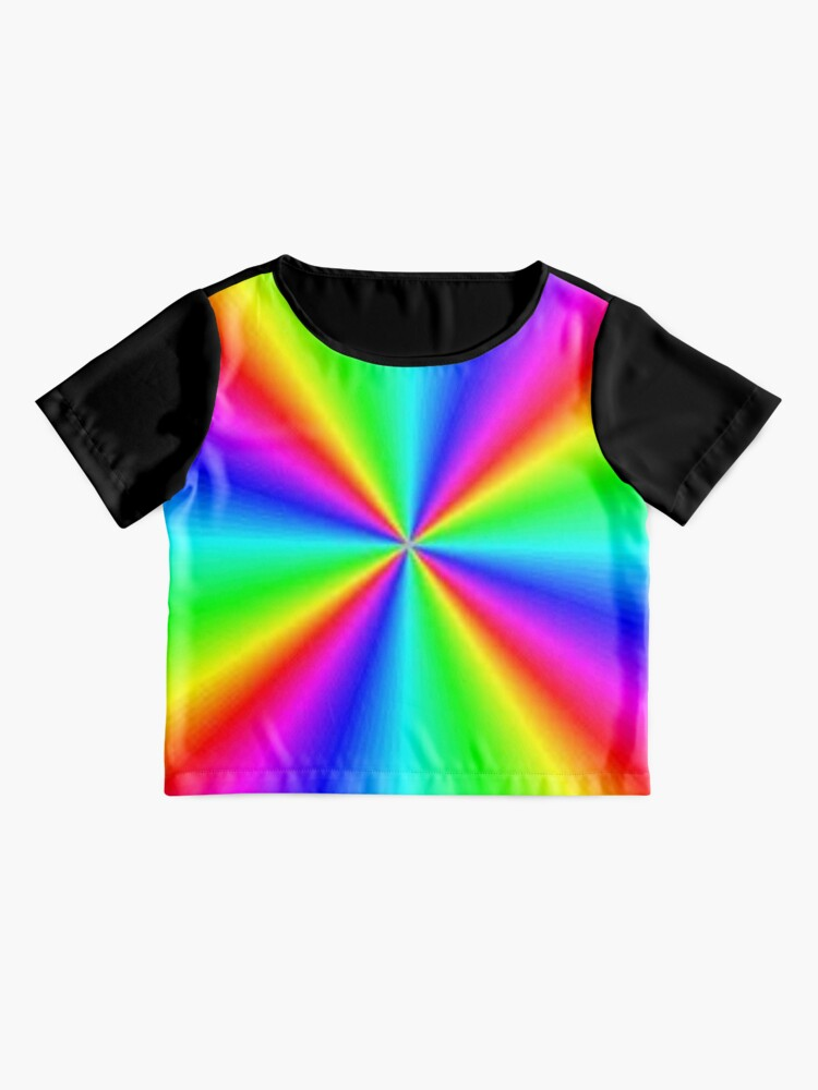 Alternate view of #Prism, #creativity, #bright, #rainbow, spectrum, psychedelic, futuristic, art, vortex, color image Chiffon Top