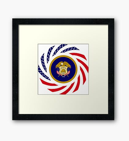 Utah Murican Patriot Flag Series Framed Print
