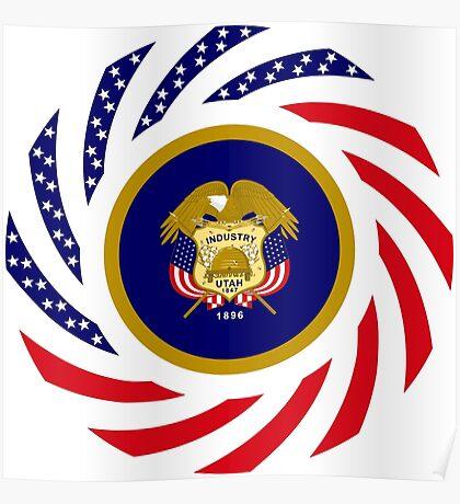 Utah Murican Patriot Flag Series Poster
