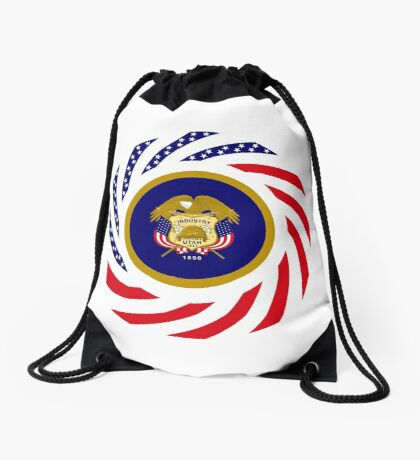 Utah Murican Patriot Flag Series Drawstring Bag