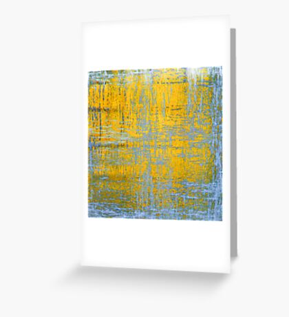 Yellow Ice Abstract Greeting Card