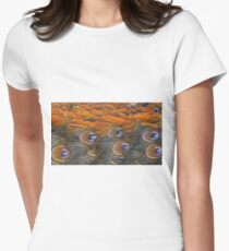 Painted Peacock Women's Fitted T-Shirt