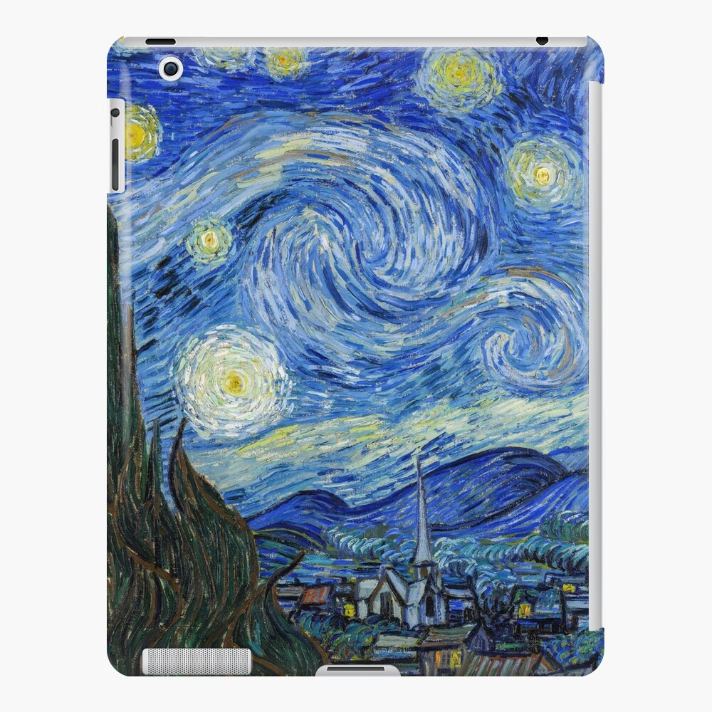 The Starry Night, Vincent van Gogh, 1889 | Ultra High Resolution iPad Case & Skin