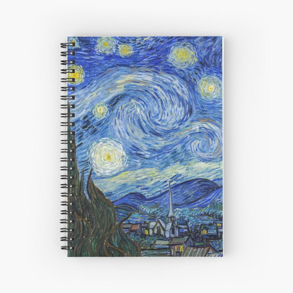 The Starry Night, Vincent van Gogh, 1889 | Ultra High Resolution Spiral Notebook