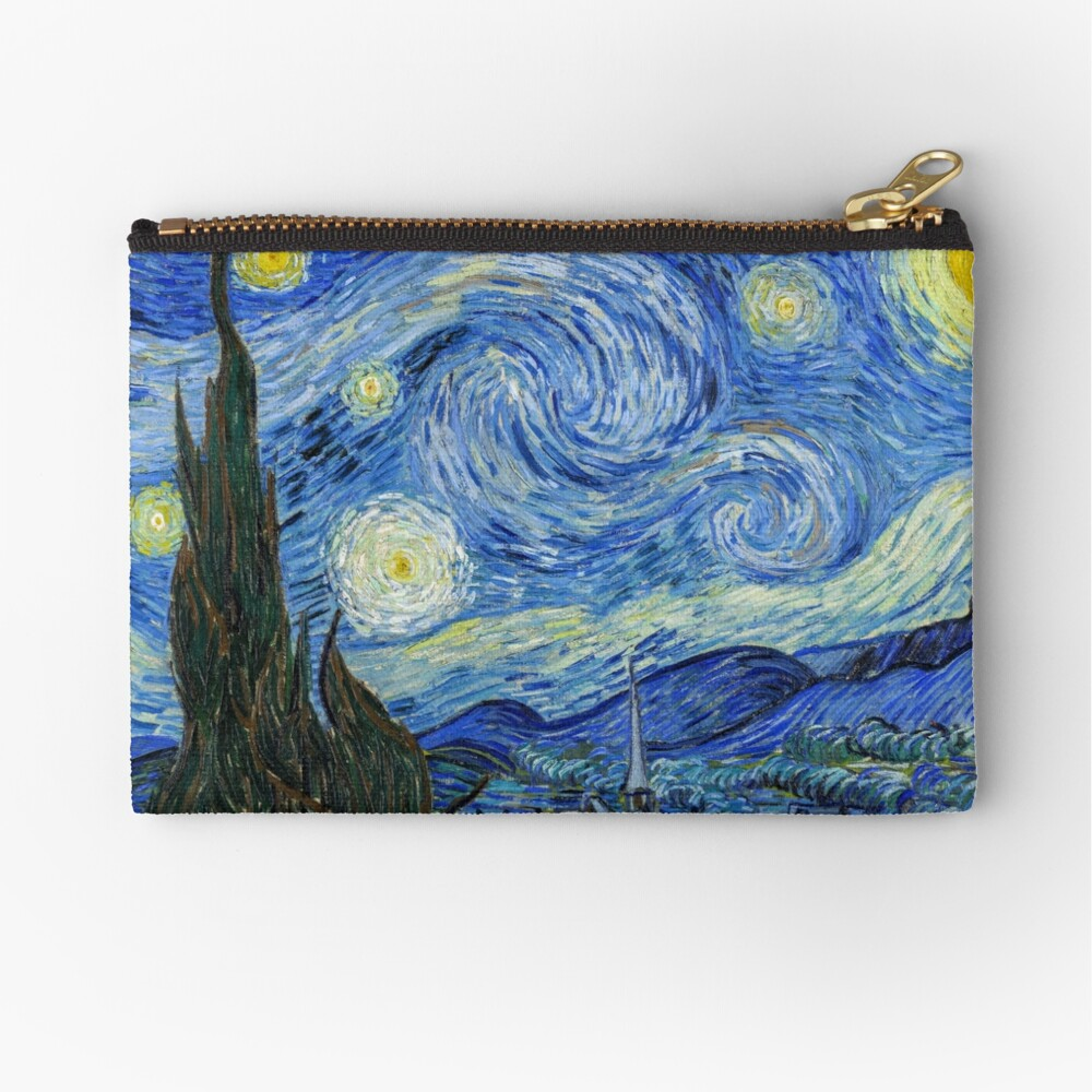 The Starry Night, Vincent van Gogh, 1889 | Ultra High Resolution Zipper Pouch