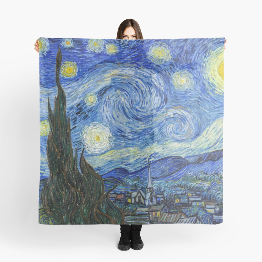 The Starry Night, Vincent van Gogh, 1889 | Ultra High Resolution Scarf