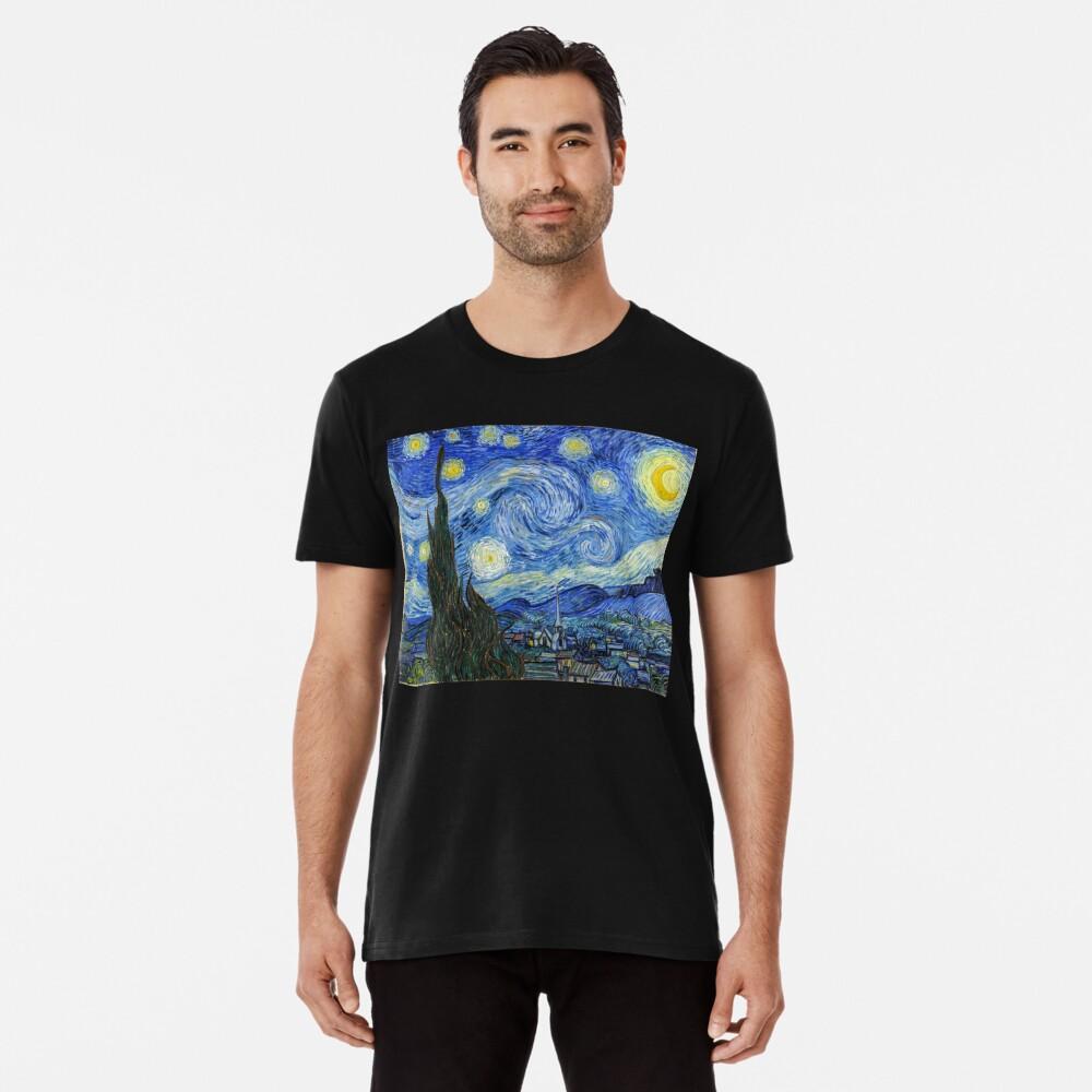 The Starry Night, Vincent van Gogh, 1889   Ultra High Resolution Premium T-Shirt