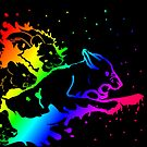 """Pride of Wrath"" Rainbow Lions by Muninn"