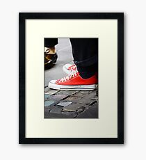 Toe-tap with me? Framed Print