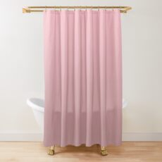 Pink to Rosy Brown Modern Gradient Shower Curtain