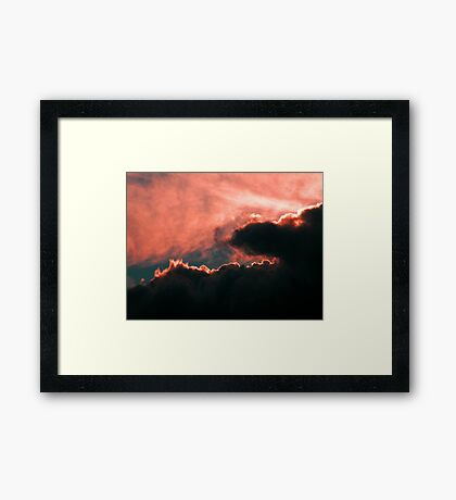 Closer up Pink Framed Print