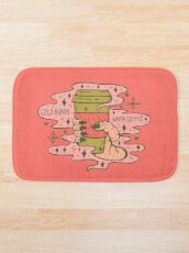 Cold Hands, Warm Coffee in Coral Bath Mat