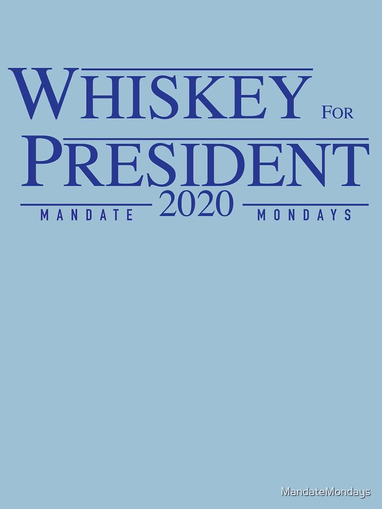 Whiskey for President 2020 by MandateMondays