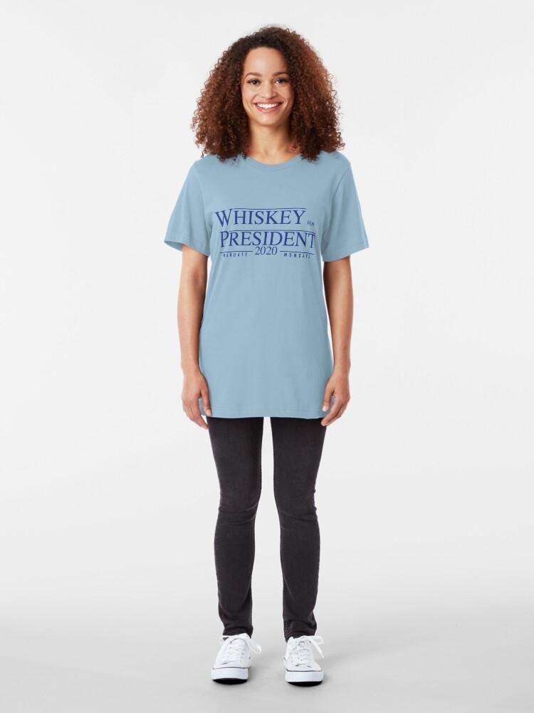 Alternate view of Whiskey for President 2020 Slim Fit T-Shirt