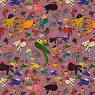 Multicolor Hummingbirds - Orchid by trelilli