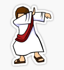 Dabbing Jesus Christian Dab Dance Sticker