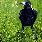 Magpie - Flowers for You by Linda Callaghan