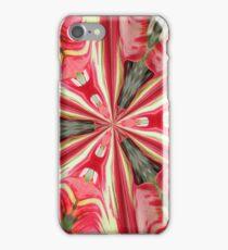 pink and cream Kaliedascope iPhone Case/Skin