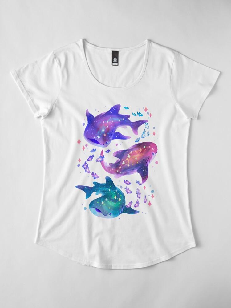 Alternate view of Cosmic Whale Shark Premium Scoop T-Shirt