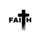 Faith | Typography with Paint Streaks | Believe von PraiseQuotes
