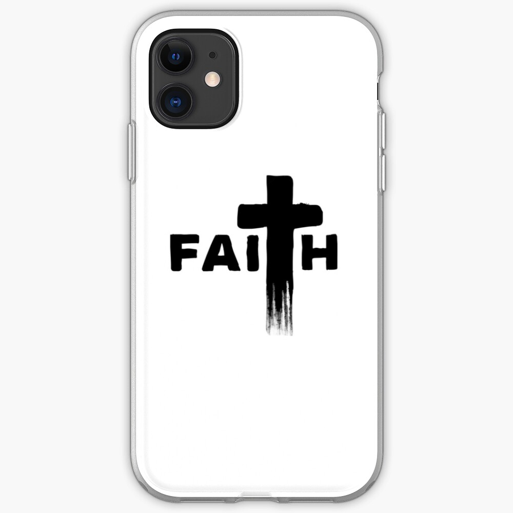 Faith | Typography with Paint Streaks | Believe iPhone-Hülle & Cover