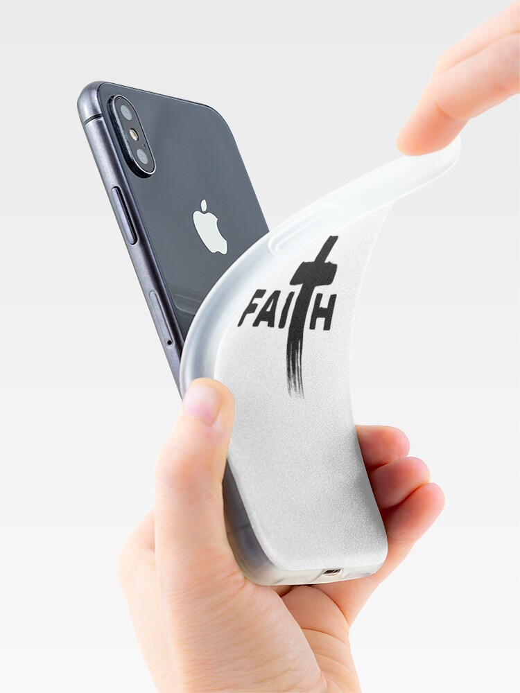 Alternative Ansicht von Faith | Typography with Paint Streaks | Believe iPhone-Hülle & Cover