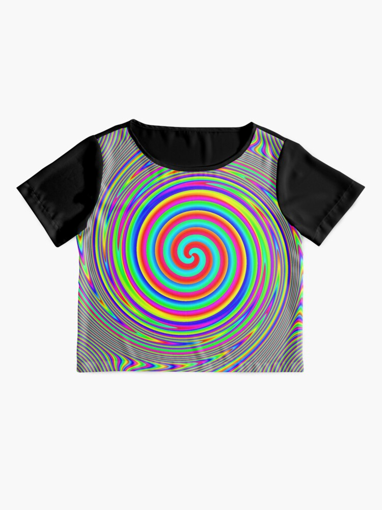 Alternate view of #Games of #multicolored #spirals on the #plane Chiffon Top