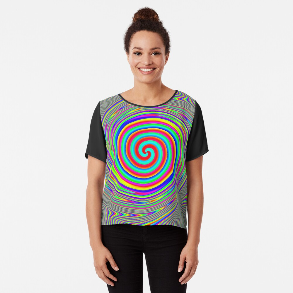 #Games of #multicolored #spirals on the #plane Chiffon Top